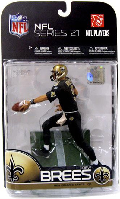 McFarlane Toys NFL New Orleans Saints Sports Picks Series 21 Drew Brees Action Figure [All Black Uniform]
