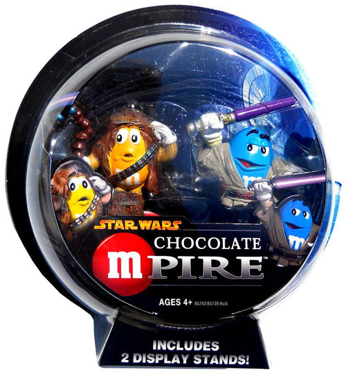 Star Wars M&Ms Chocolate Mpire Chewbacca & Mace Windu Action Figure 2-Pack