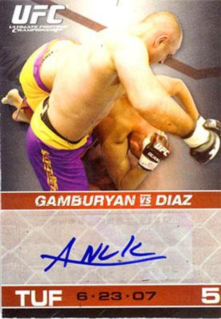 UFC 2009 Round 1 Manny Gamburyan Autograph Card [Blue Ink]