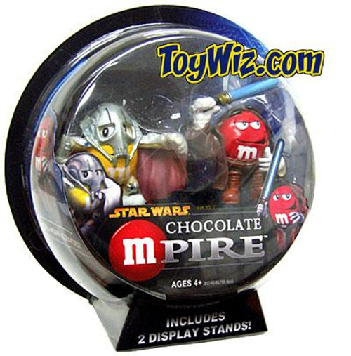 Star Wars M&Ms Chocolate Mpire General Grievous & Obi-Wan Kenobi Action Figure 2-Pack