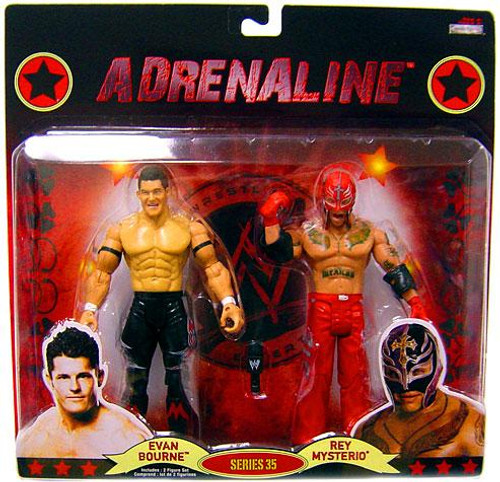 WWE Wrestling Adrenaline Series 35 Evan Bourne & Rey Mysterio Action Figure 2-Pack