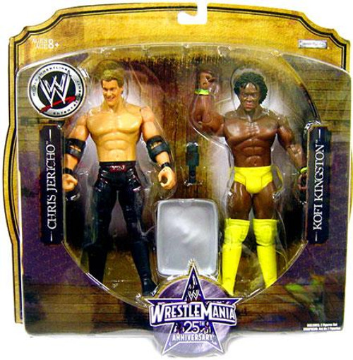 WWE Wrestling WrestleMania 25 Series 1 Chris Jericho & Kofi Kingston Action Figure 2-Pack