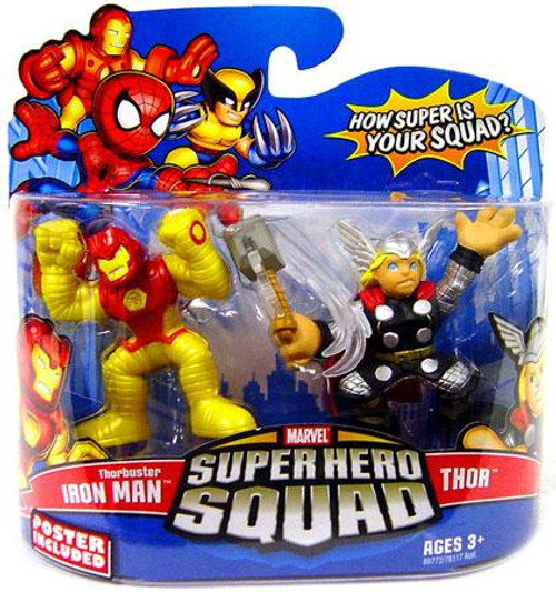 Marvel Super Hero Squad Series 13 Thorbuster Iron Man & Thor Action Figure 2-Pack