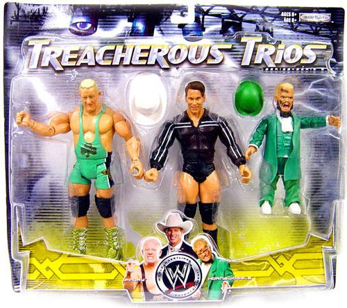 WWE Wrestling Treacherous Trios Series 9 Finlay, JBL & Hornswoggle Exclusive Action Figure 3-Pack