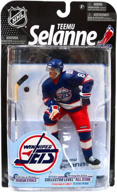 McFarlane Toys NHL Winnipeg Jets Sports Picks Series 23 Teemu Selanne Action Figure [Blue Jersey] [Moderate shelf wear, slight creasing on the card.]