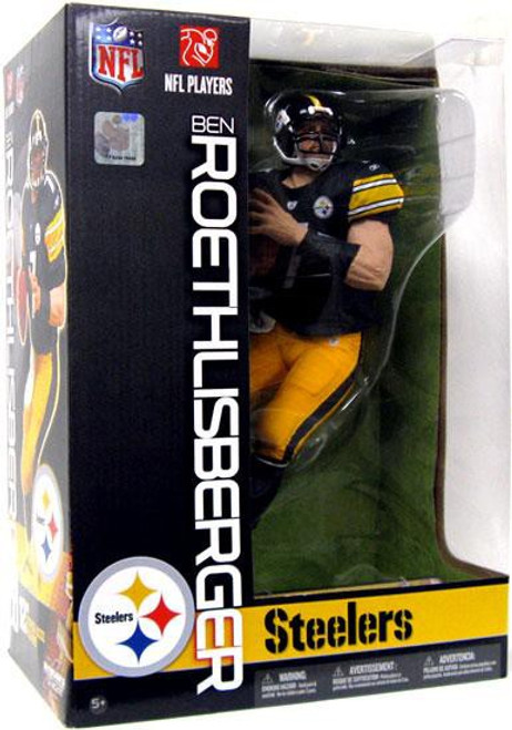 McFarlane Toys NFL Pittsburgh Steelers Sports Picks 12 Inch Deluxe Ben Roethlisberger Action Figure