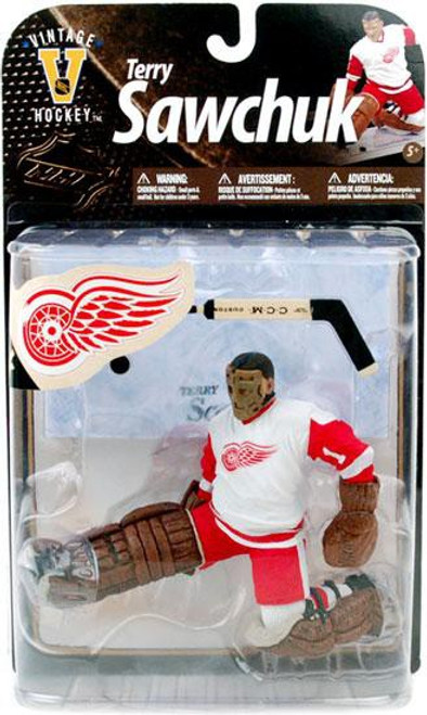 McFarlane Toys NHL Detroit Red Wings Sports Picks Legends Series 8 Terry Sawchuk Action Figure [White Jersey]