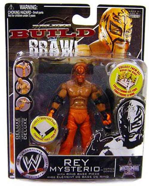 WWE Wrestling Build N' Brawl 25th Anniversary Rey Mysterio Action Figure [Red Pants]