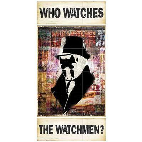 """NECA """"Who Watches The Watchmen"""" 3' x 6' Wall Mural"""
