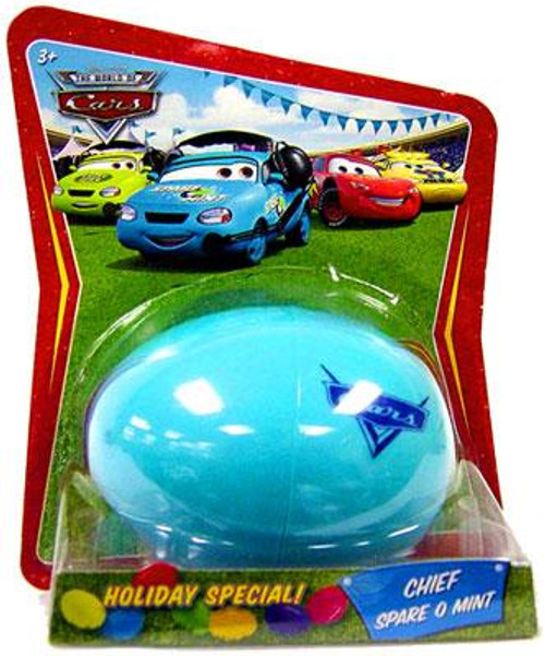 Disney Cars The World of Cars Easter Eggs Easter Egg Chief Spare O Mint Diecast Car
