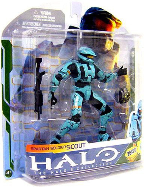 McFarlane Toys Halo 3 Series 5 Spartan Soldier Scout Action Figure [Cyan]