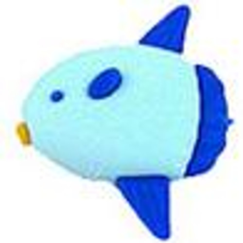 Iwako Blue Fish Eraser