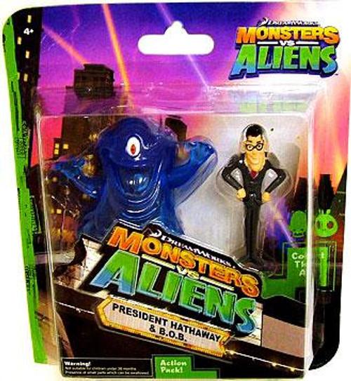 Monsters vs. Aliens President Hathway & B.O.B. Mini Figure 2-Pack