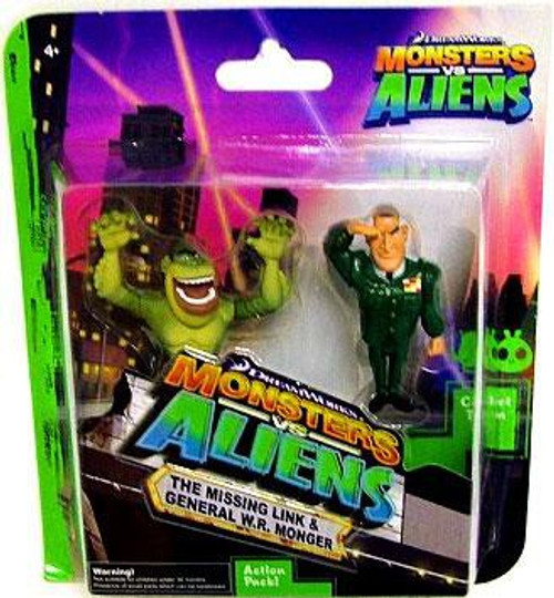 Monsters vs. Aliens The Missing Link & General W.R. Monger Mini Figure 2-Pack
