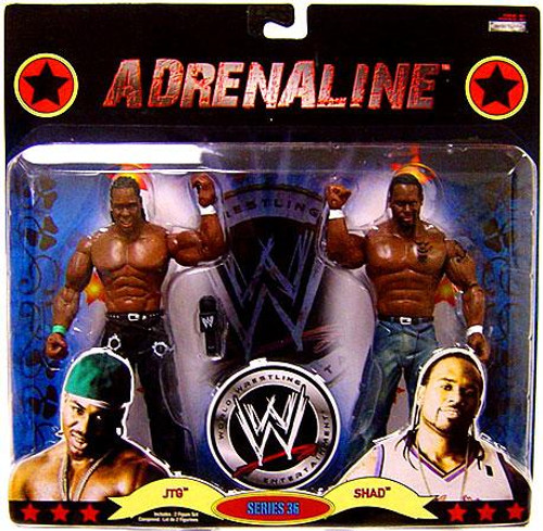 WWE Wrestling Adrenaline Series 36 JTG & Shad Action Figure 2-Pack