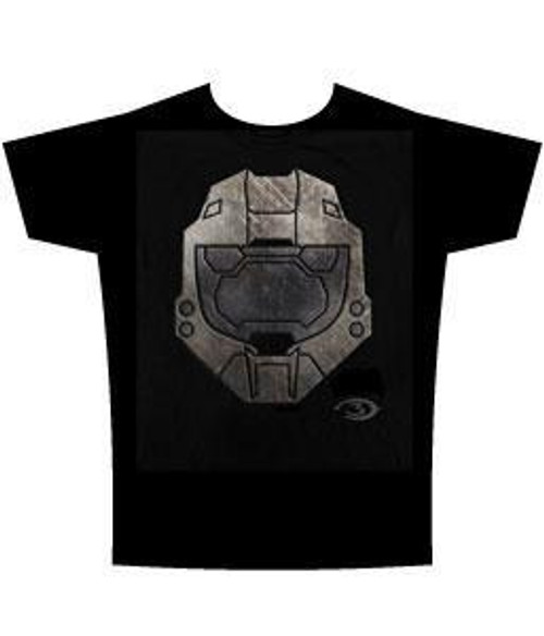 Halo 3 Faded Metal Helmet T-Shirt [Adult Large]