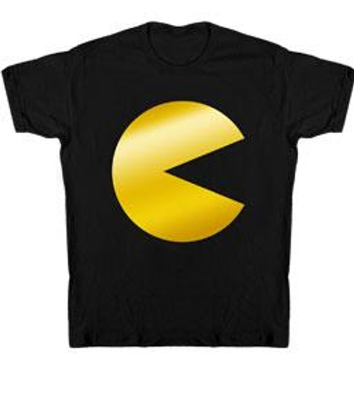 Pac Man Foil Logo T-Shirt [Adult Small]
