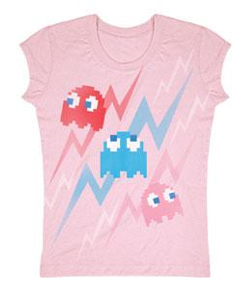 Pac Man Ghost Faded T-Shirt [Juniors Small]