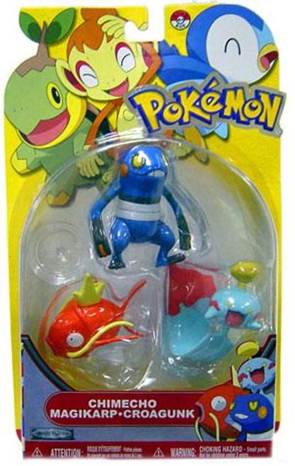 Pokemon Diamond & Pearl Series 13 Chimecho, Magikarp & Croagunk Figure 3-Pack