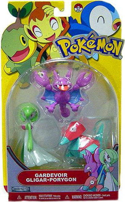 Pokemon Diamond & Pearl Series 13 Gardevoir, Gligar & Porygon Figure 3-Pack