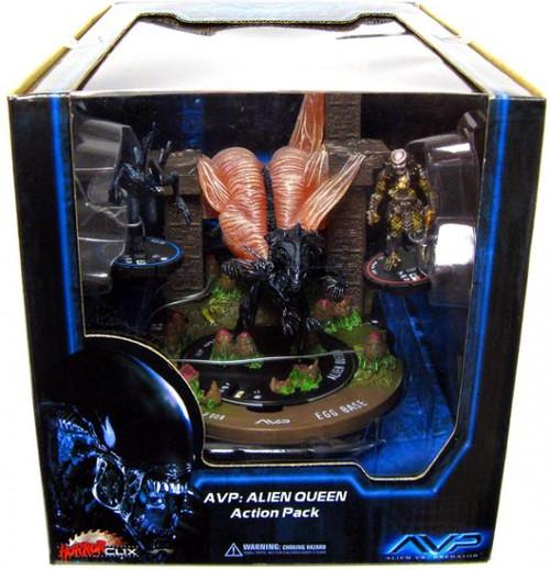 Alien vs Predator HorrorClix Alien Queen Collector's Set