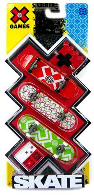 X Games Extreme Sports X-Games Logo Mini Skateboard 3-Pack