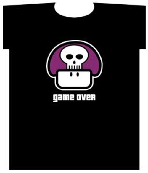 Nintendo Game Over Poison Mushroom T-Shirt [Youth Small]