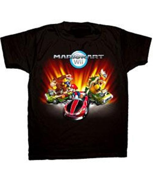 Super Mario Mario Kart Wii Mario Kart Group T-Shirt [Youth XL]