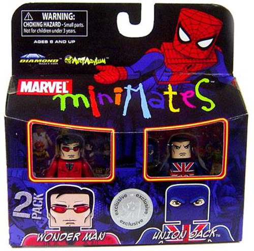 Marvel Minimates Exclusives Wonder Man & Union Jack Exclusive Minifigure 2-Pack