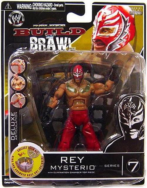 WWE Wrestling Build N' Brawl Series 7 Rey Mysterio Action Figure