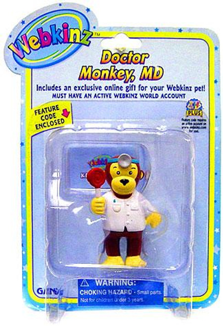 Webkinz Doctor Monkey, MD PVC Figure