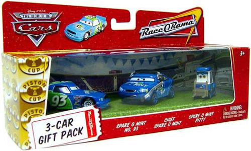 Disney Cars The World of Cars Multi-Packs Spare O Mint 3-Car Gift Pack Diecast Car Set