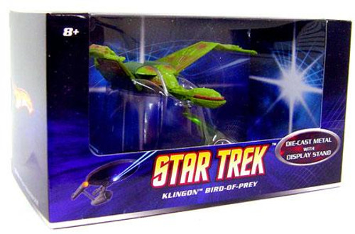 Star Trek The Original Series Hot Wheels Klingon Bird of Prey Diecast Vehicle