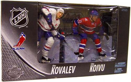 McFarlane Toys NHL Montreal Canadiens Sports Picks Exclusive Saku Koivu & Alex Kovalev Exclusive Action Figure 2-Pack