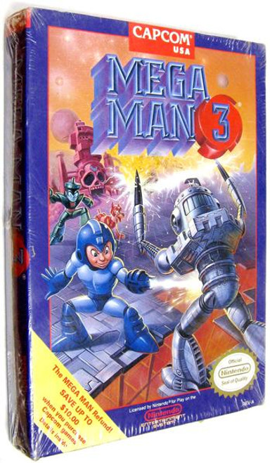 Capcom Nintendo NES Mega Man 3 Video Game Cartridge