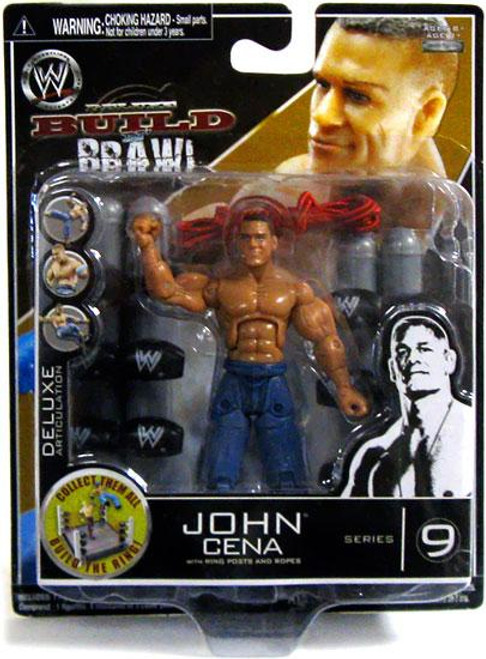 WWE Wrestling Build N' Brawl Series 9 John Cena Action Figure