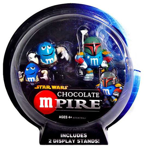 Star Wars M&Ms Chocolate Mpire Han Solo & Boba Fett Action Figure 2-Pack