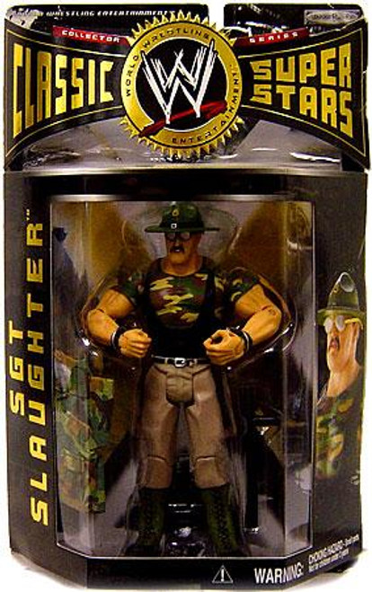 WWE Wrestling Classic Superstars Series 2 Sgt Slaughter Action Figure [Green Hat, Jacket Off]