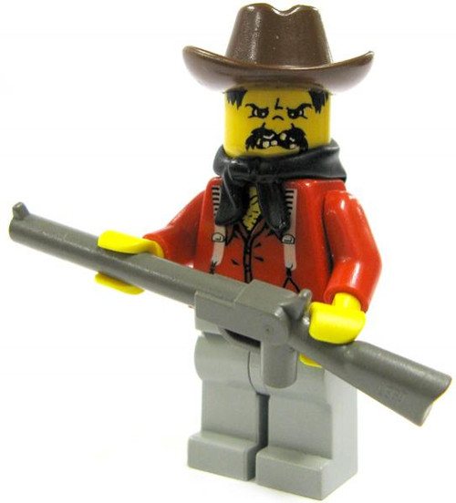 LEGO Loose Bandit Minifigure [Brown Hat, Red Shirt & Rifle Loose]