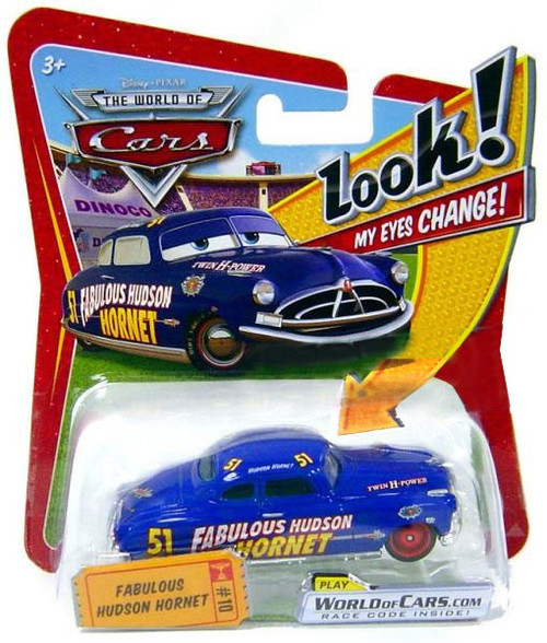 Disney Cars The World of Cars Lenticular Eyes Series 1 Fabulous Hudson Hornet Diecast Car