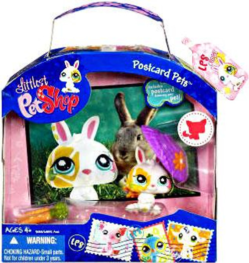 Littlest Pet Shop Postcard Pets Series 3 Bunny Figure