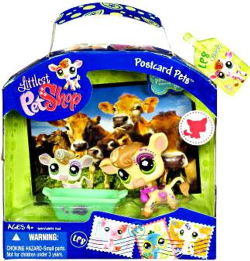 Littlest Pet Shop Postcard Pets Series 3 Cow Figure