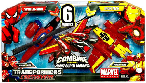 Marvel Transformers Crossovers Spider-Man & Iron Man Action Figure Set