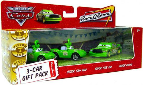 Disney Cars The World of Cars Multi-Packs Chick Hicks 3-Car Gift Pack Diecast Car Set