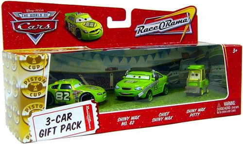 Disney Cars The World of Cars Multi-Packs Shiny Wax 3-Car Gift Pack Diecast Car Set