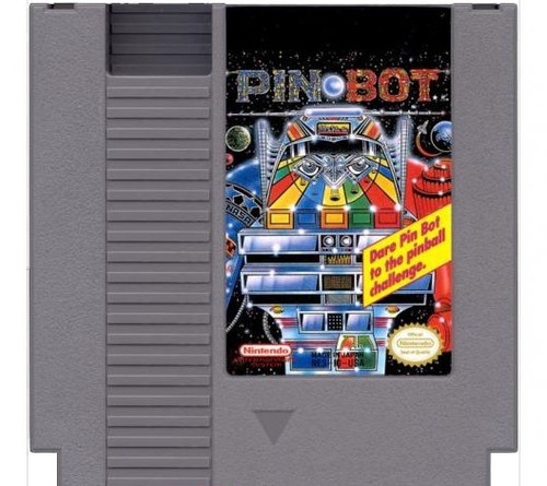 Nintendo NES Pin-Bot with Instructions Video Game Cartridge [Played Condition]