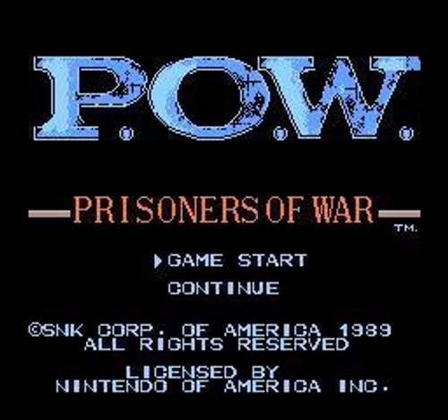 Nintendo NES P.O.W.: Prisoners of War Video Game Cartridge [Played Condition]
