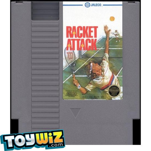 Nintendo NES Racket Attack Video Game Cartridge [Played Condition]