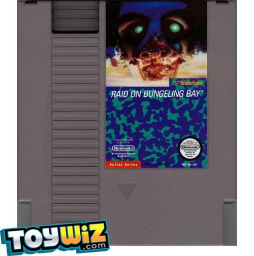 Nintendo NES Raid on Bungeling Bay Video Game Cartridge [Played Condition]