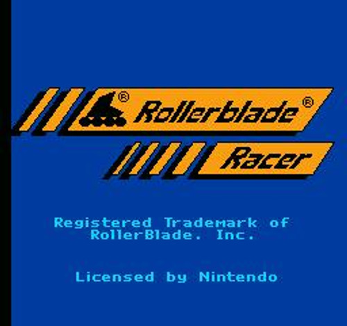 Nintendo NES Rollerblade Racer Video Game Cartridge [Played Condition]